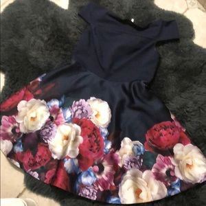 Ted Baker Nersi Dress TB 5 US 12 navy floral
